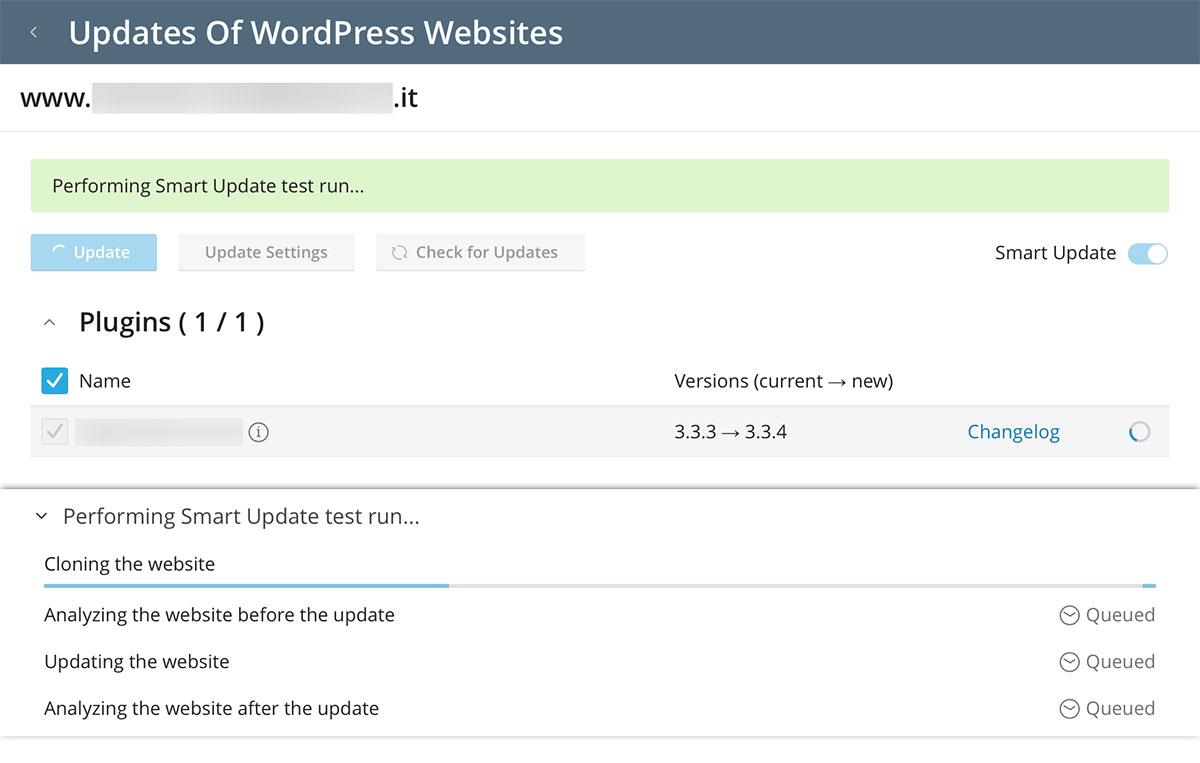 WordPress Toolkit - smart update